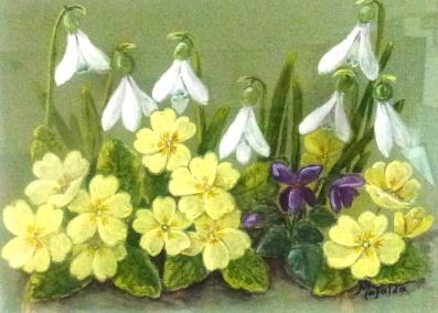 Wild flowers gouacher, Mafalda - Price: £ 45.00 - L 30.00 cm, W 18.00 cm
